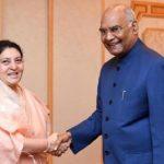 राष्टपति भण्डारी र भारतका राष्ट्रपति कोविन्दबीच भेटवार्ता, कोविन्दद्वारा नेपाल भ्रमणको निम्तो स्विकार ।