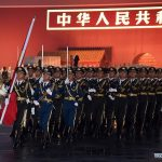 Flag-raising ceremony to celebrate National Day held in Beijing, China